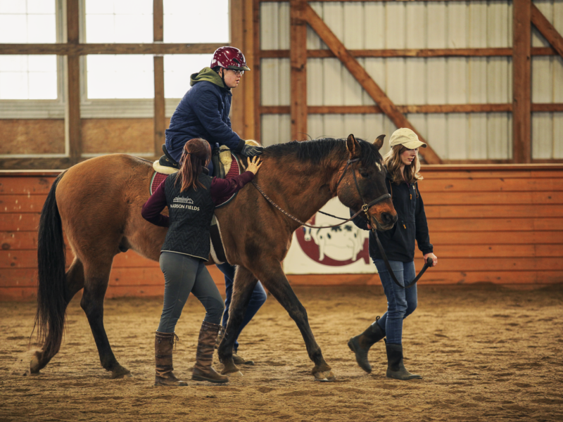 Therapeutic Riding at Madison Fields for Autistic Adults