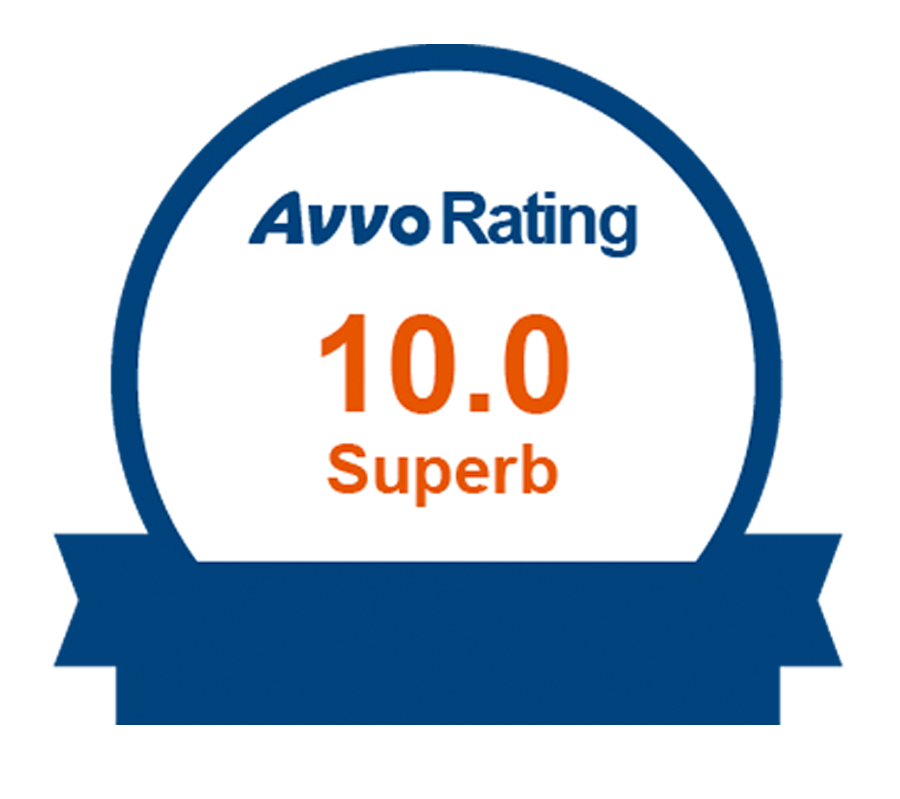AVVO 10 Rating Yoars Law New York Attorney