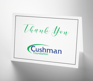 Gratitude: Cushman Foundation