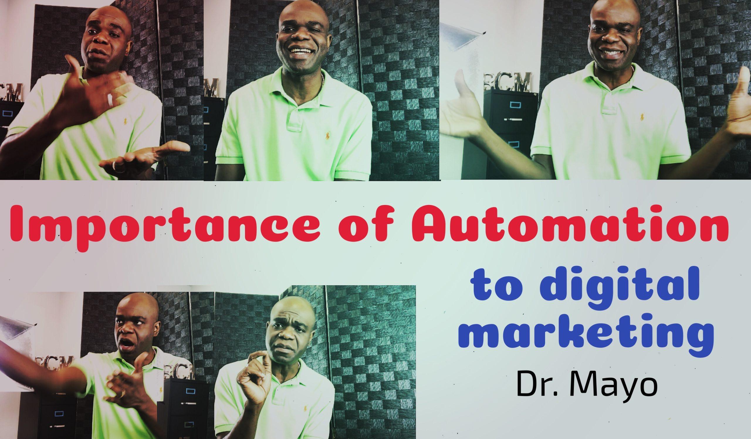 marketing automation Dr. Mayo Adegbuyi