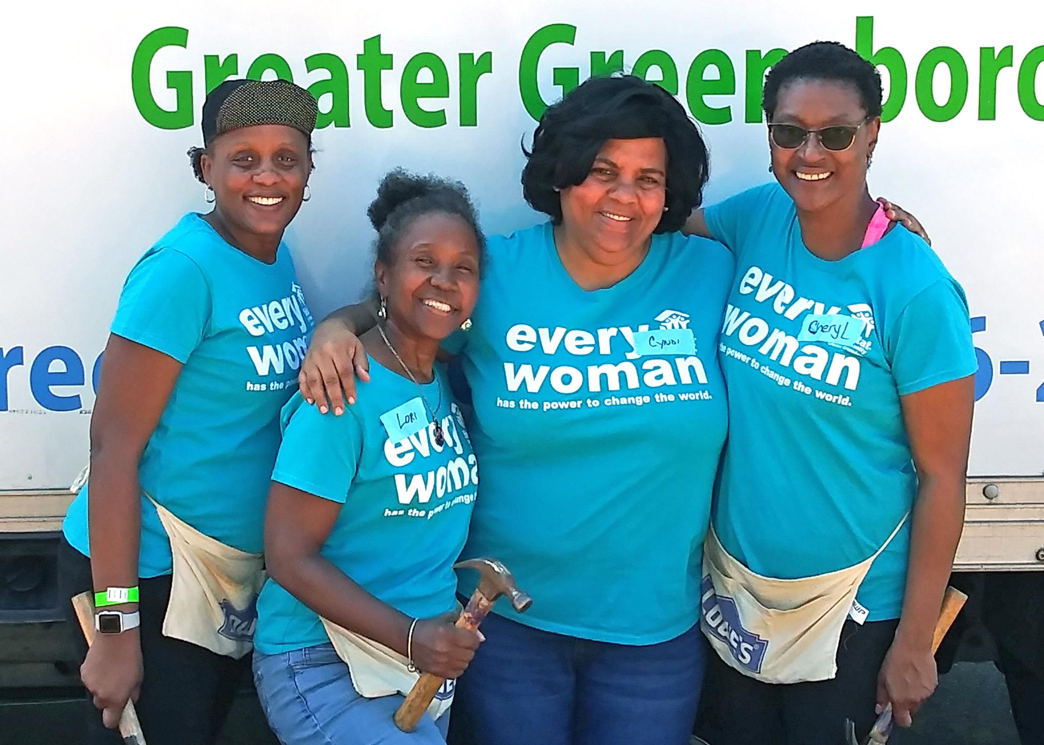 Calvary Christian Women Build Volunteers