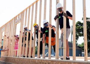 Adil and Bouchra Wall Raising