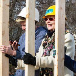 Joy Brown_Raising Wall at Kickoff