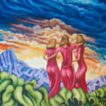 "Sisters of the Vine  -  Size: 35"" x 44"""