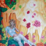 "Terisana of the Roses - Size: 42"" x 72"""