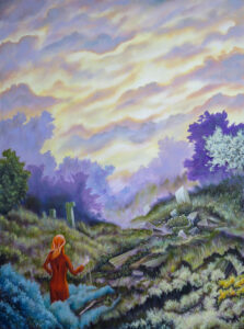 "Morning At The Well Of Shafor - Size: 36"" x 48"""