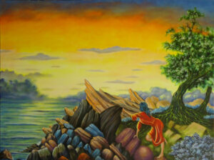 "Daybreak at Shroyer Point - Size: 36"" x 48"""
