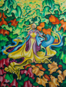"Lady Of Hadley Vale - Size: 36"" x 48"""
