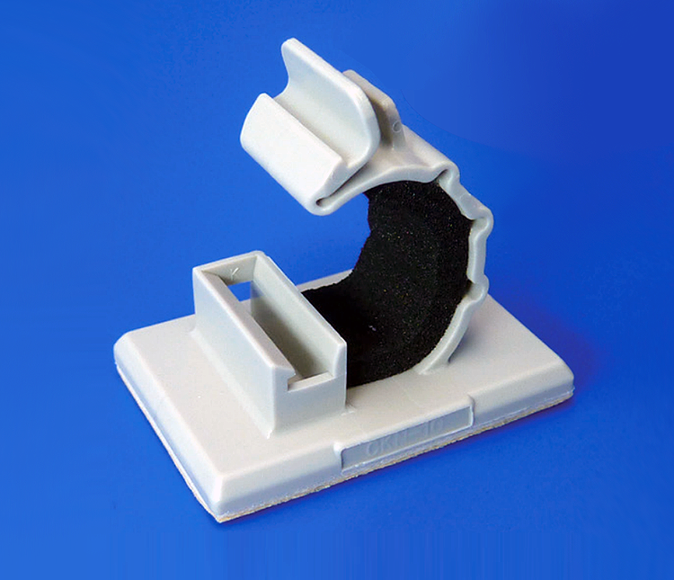 Adhesive cable clamp with protective foam: CKN-SP Series