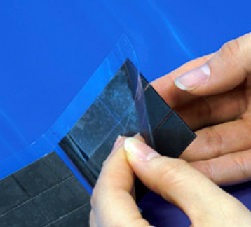 1. Gently bend the liner while take the ferrite sheet off.