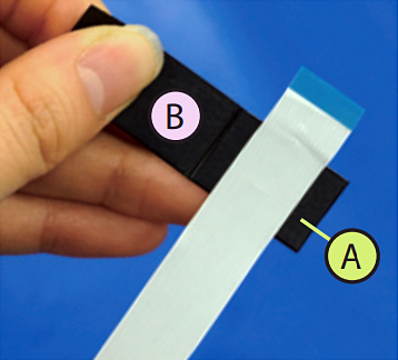 2. Attach SMARTPLY to the cable on (A) part.