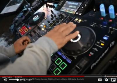 DJ Angelo appearance on Football Night in America