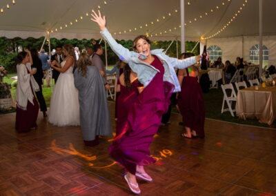 Jumping On Dance Floor