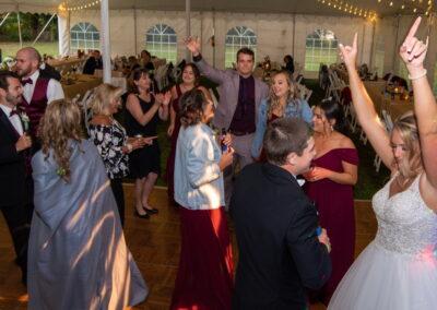 Bride Hands Up