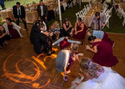Bride Singing Hands in air