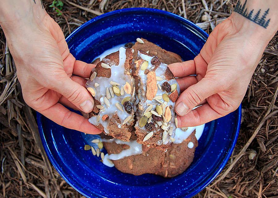 Trail Mix Molasses Cookies