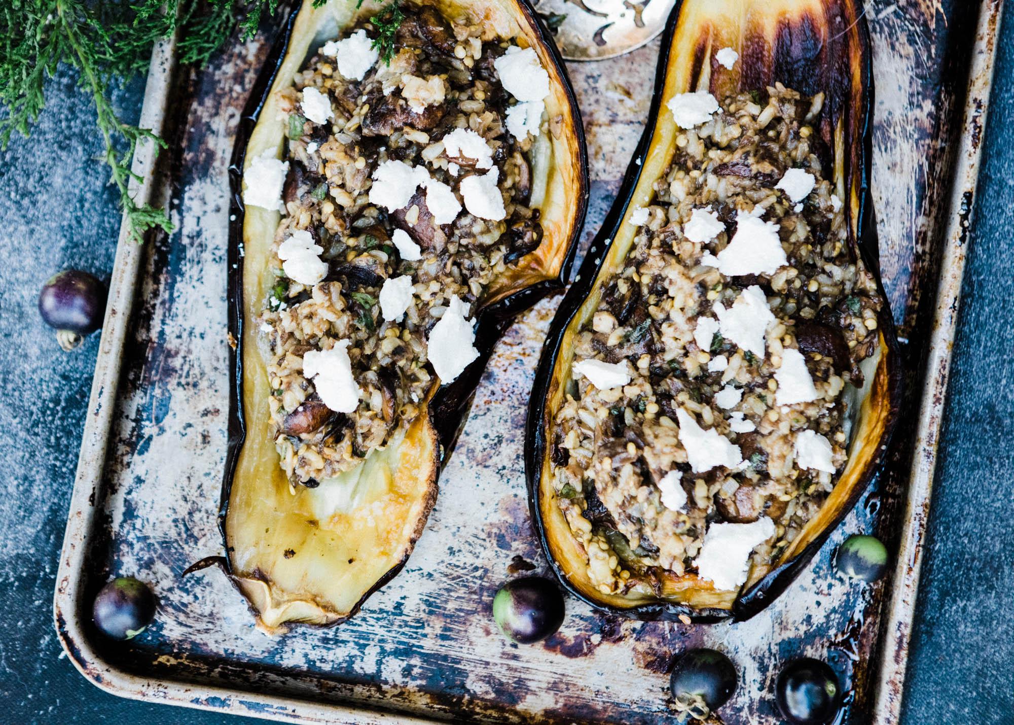 Stuffed Eggplant | Let's Taco Bout It Blog