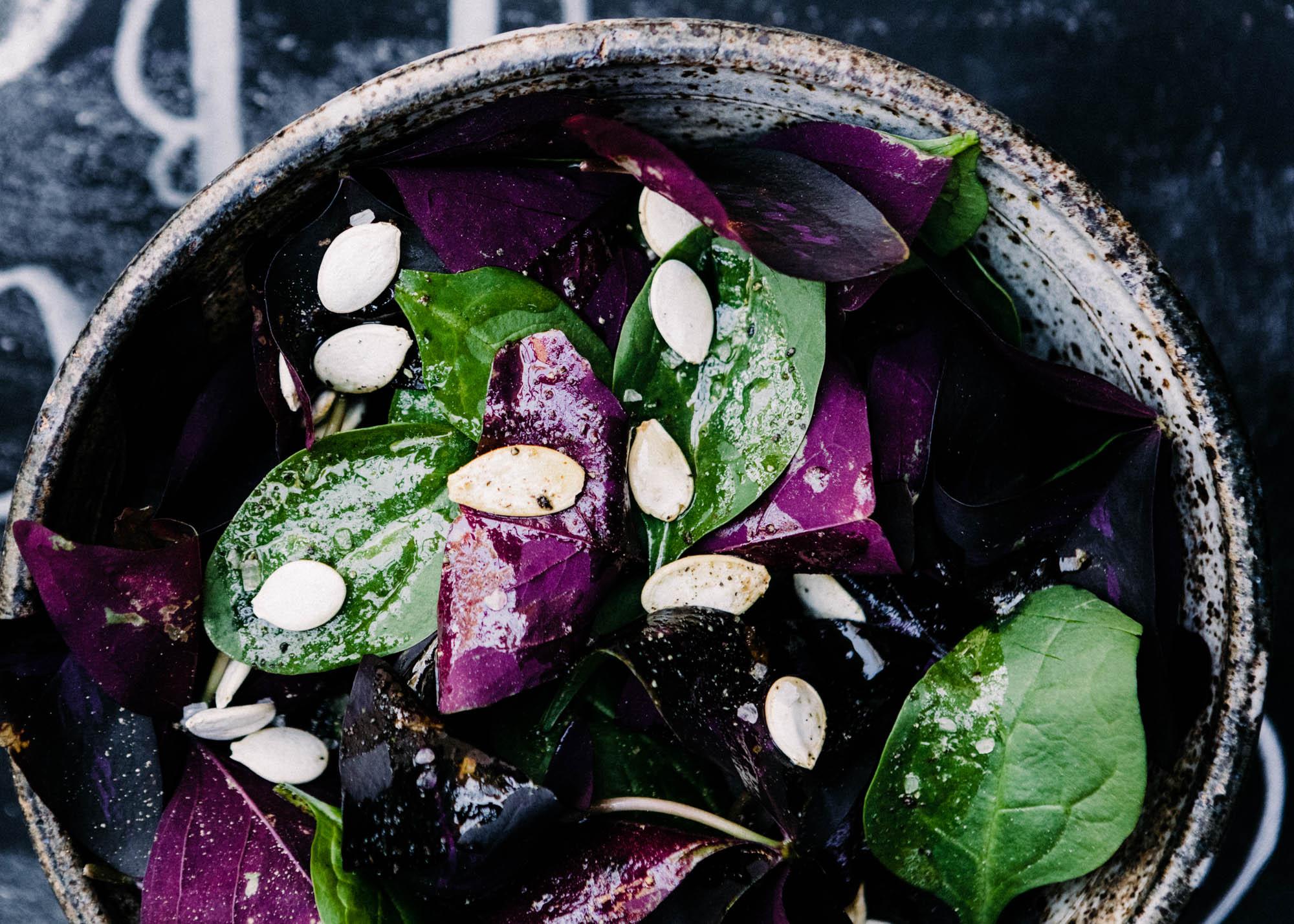 Bitter Greens Salad with Lemon & Honey | Let's Taco Bout It Blog