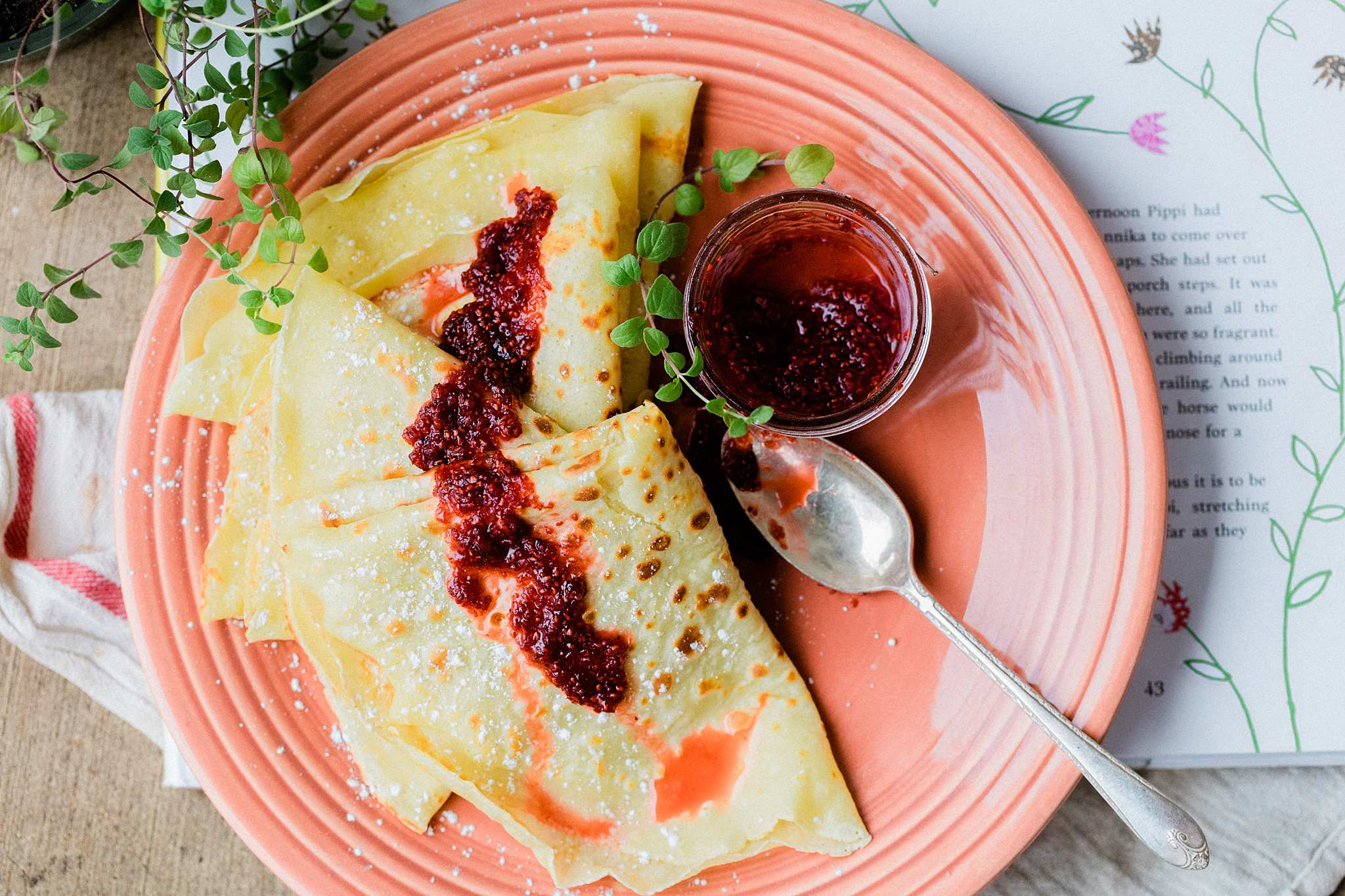 Swedish Pancakes with Lingonberry Jam   Let's Taco Bout It Blog