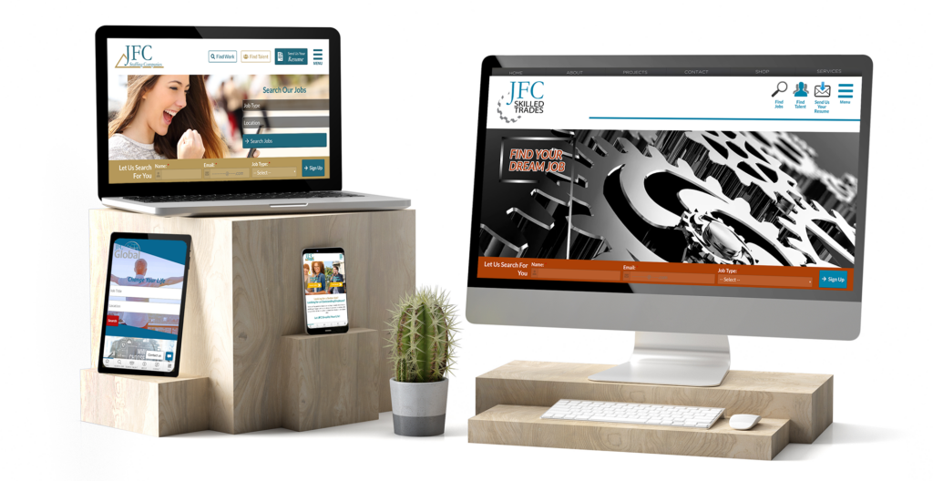 Branded Website Design for JFC Staffing by Valor Creative Media