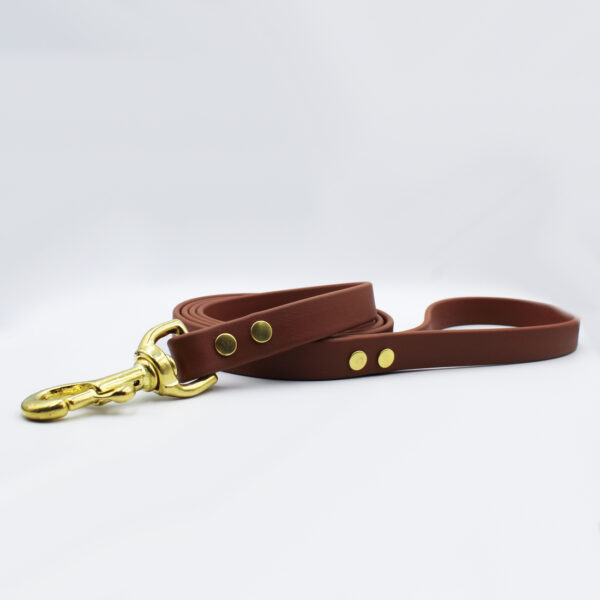 leather brown dog leash