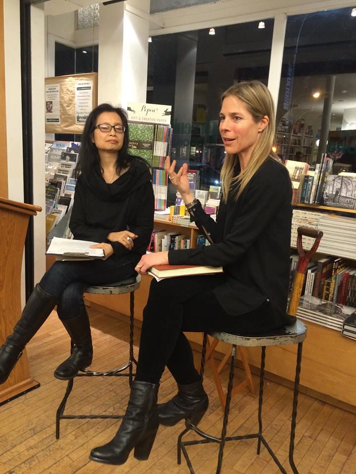 Marie Lee interviewing Dawn Tripp at Brooklyn's Greenlight Bookstore.