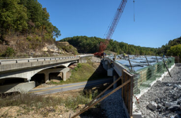 Final Bridge Underway on the Morgan County Segment of the Mountain Parkway Expansion