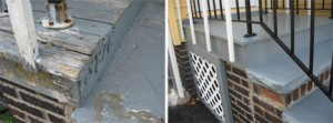 Porch before & after