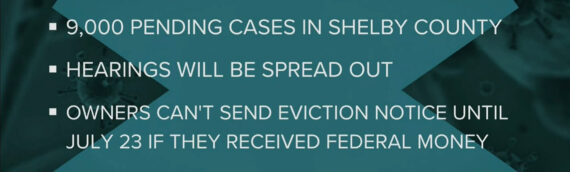 Eviction hearings resume in Shelby County with higher than normal volume of pending cases