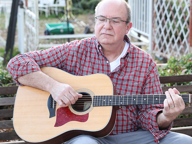 Guitarist Earl Waller enjoys sharing his passion for music