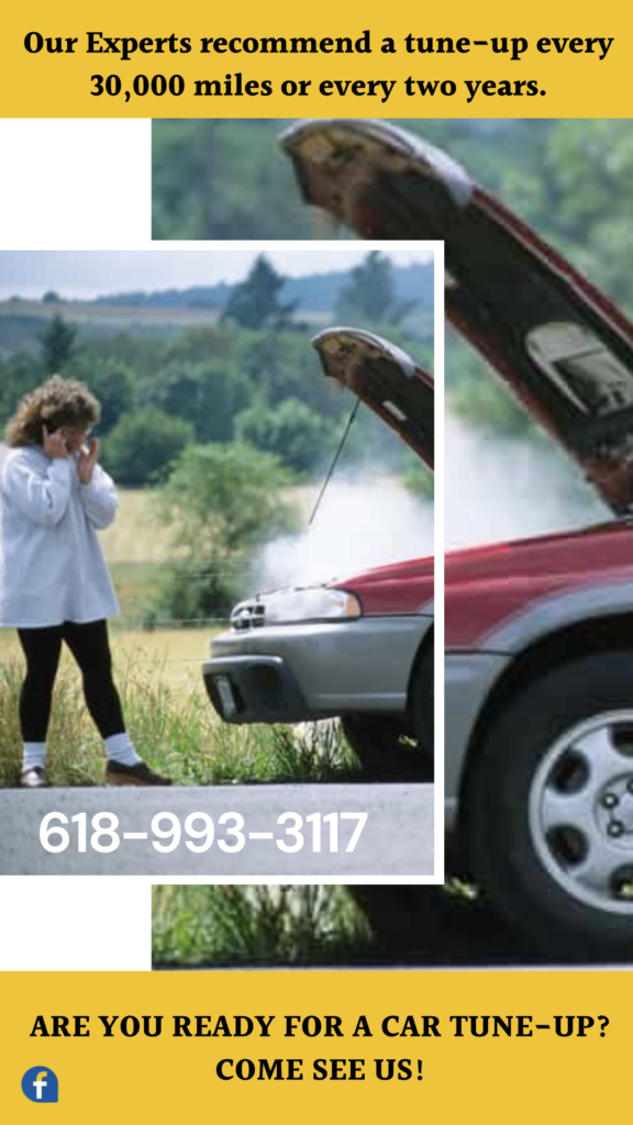 woman car broke down and started smoking