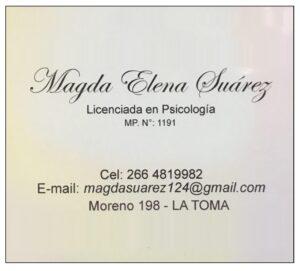 publicidad - Magda Suarez - Psicologa - GVT Noticias