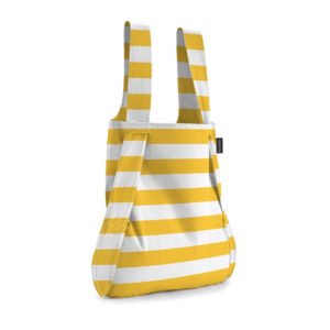 Notabag Original Reusable Shopping Tote Backpack Golden Stripes