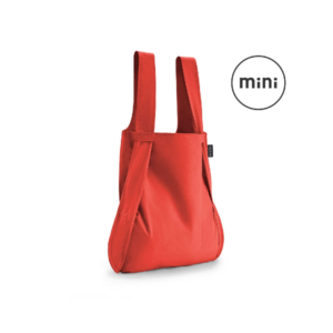 Notabag Mini Reusable Shopping Tote Backpack Red