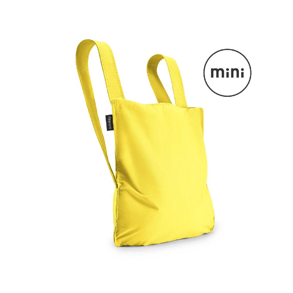 Notabag Mini Reusable Shopping Tote Backpack Yellow