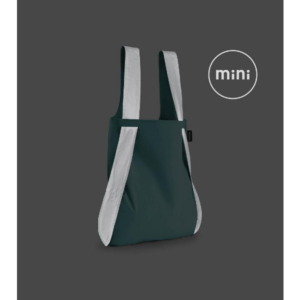 Notabag Mini Reflective Reusable Shopping Tote Backpack Mint