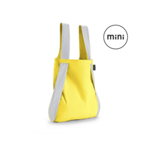 Notabag Mini Reflective Reusable Shopping Tote Backpack Yellow