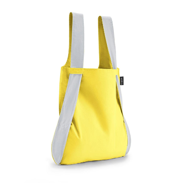 Notabag Reflective Reusable Shopping Tote Backpack Yellow