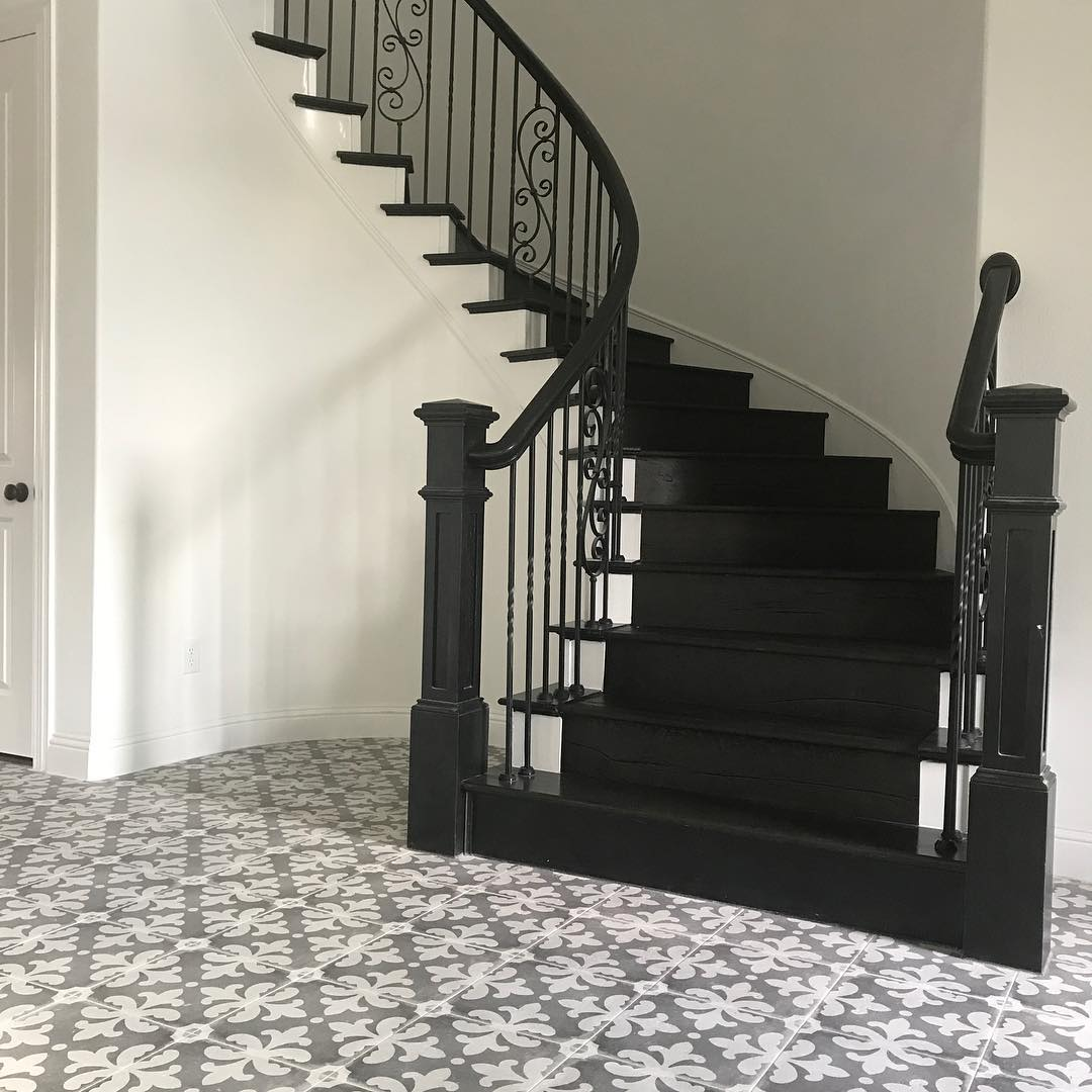 dark wood floors stairs