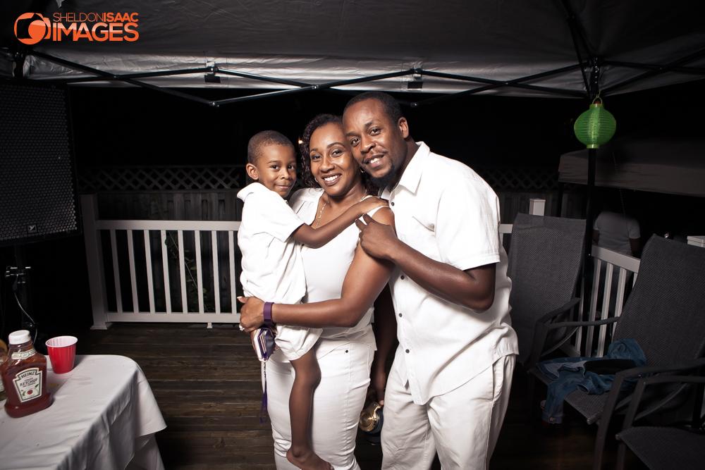 The Elliston Family smiling