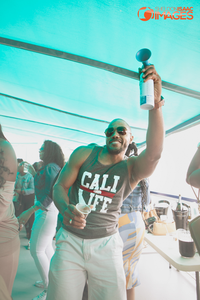 Party sounds the horn on the Caribana Friends Boat Cruise