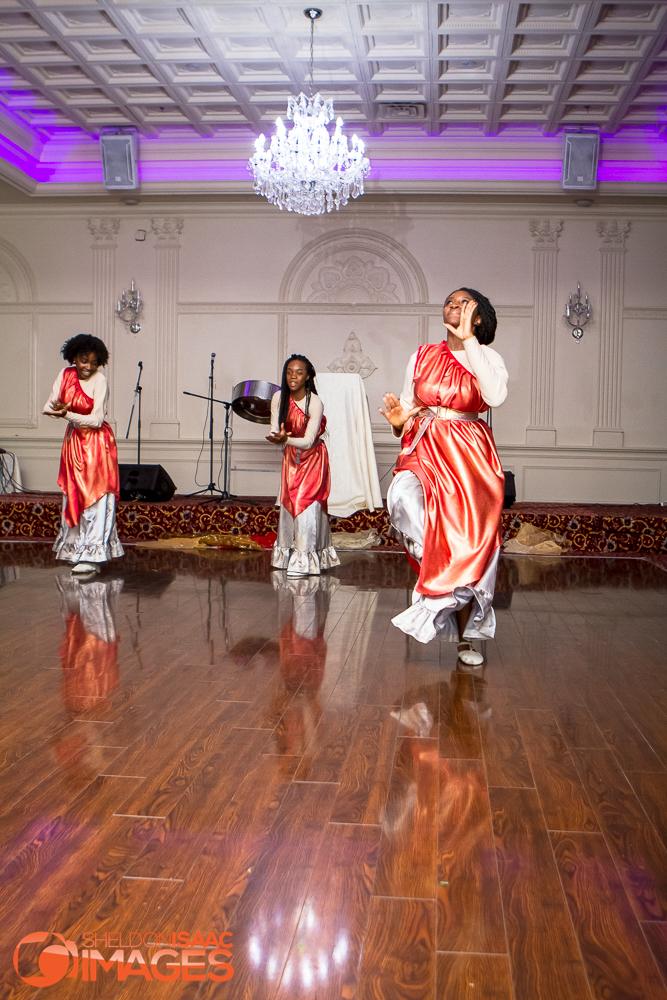 Women dancing at event