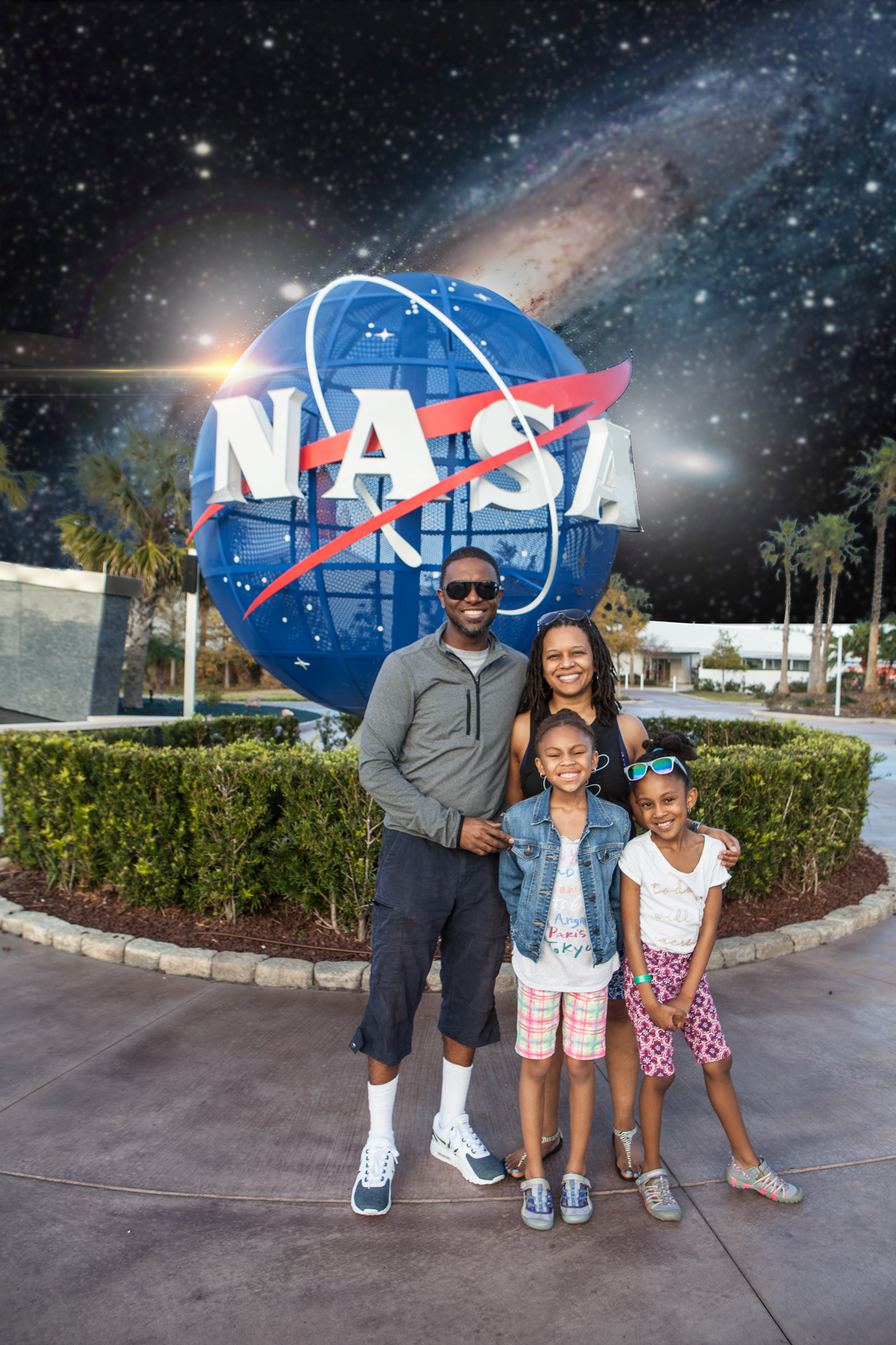 Isaac family at Kennedy Space Center in Florida