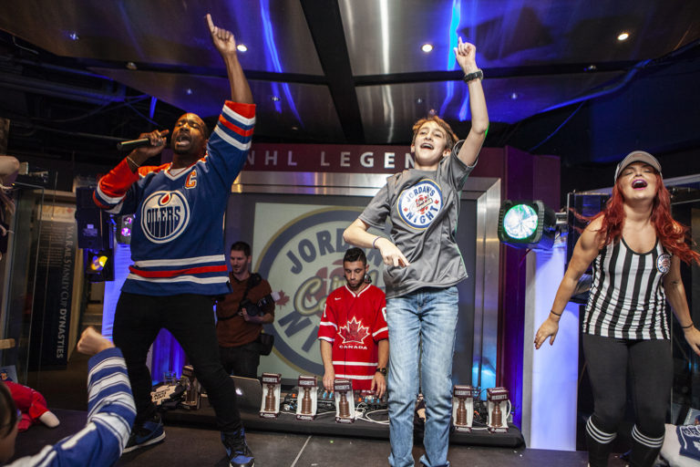 Kids dancing at a Barmitzvah Party at the Hockey Hall of Fame in Toronto