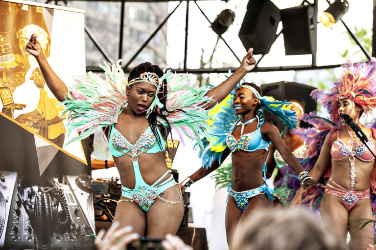 Dance performance at Barbados On The Water festival in the Harbourfront in Toronto