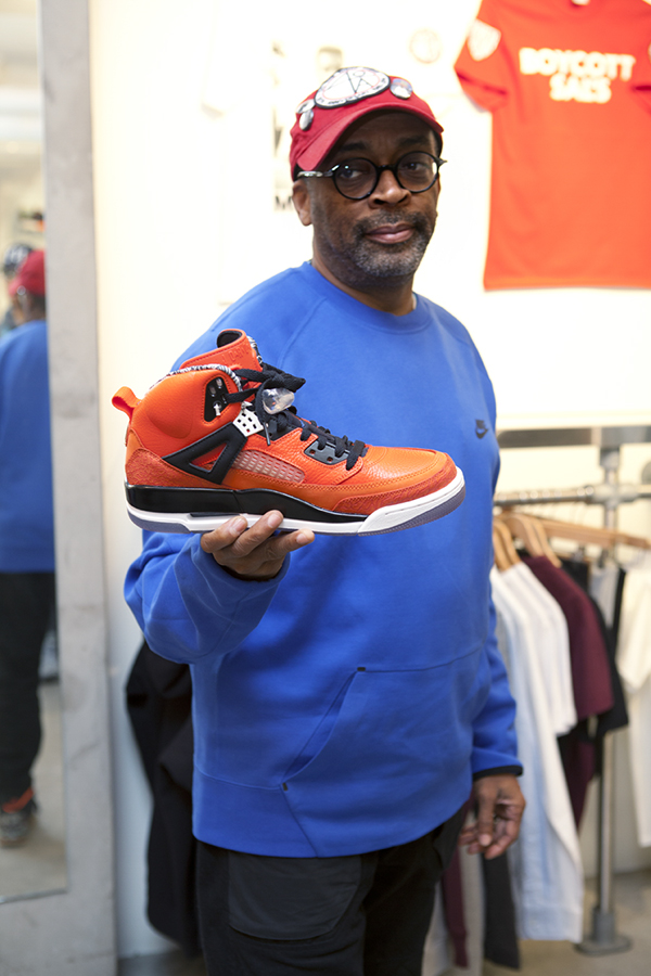 Spike Lee at a Toronto Shoe Store