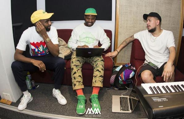Watch Okmalumkoolkat, AKA & Riky Rick Vibing To Their New Song