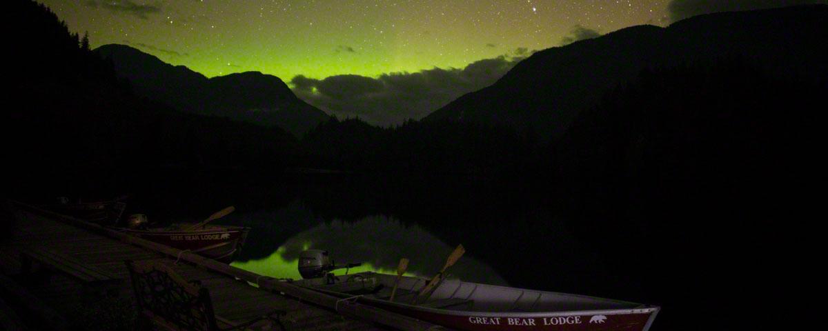 Northern lights at Great Bear Lodge