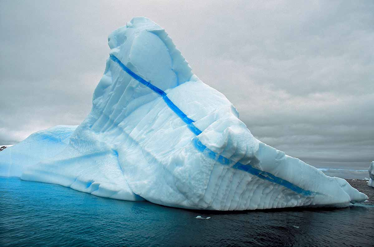 Blue Stripe Iceberg