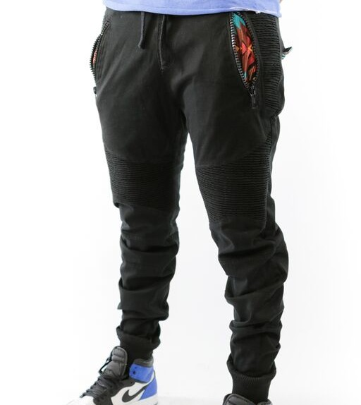 PREMIUM FEELGOOD JOGGERS – BLACK / AZTEC